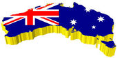 Vektory 3d mapa austrálie — Stock vektor
