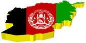 Vectors 3D map of Afghanistan — Stock Vector