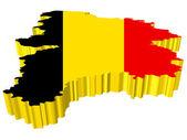 Vectors 3D map of Belgium — Stock Vector