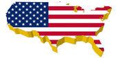Vectors 3D map of USA — Stock Vector