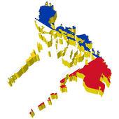 Vectors 3D map of Philippines — Stock Vector