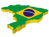 Vectors 3D map of Brazil — Vector de stock