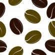 Black and green coffee beans. Seamless texture. vector — Stock Vector #10164398
