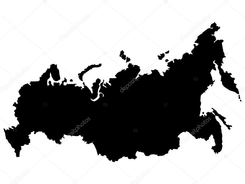 俄罗斯地图矢量插画