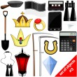 Vector drawing of a set of objects. EPS10 — Stock Vector