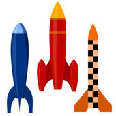 Vector illustration of a set of rockets. EPS10 — Stock Vector