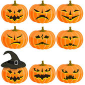 Set pumpkins for Halloween. EPS10 — Stock Vector