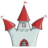 Vector illustration of cartoon castle. EPS10 — Stock Vector