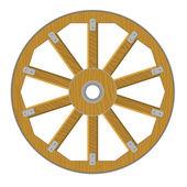 Immagine vettoriale di una ruota di legno — Vettoriale Stock