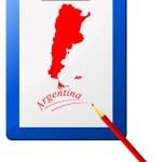 Ilustracja wektorowa schowka z mapy Argentyny — Wektor stockowy