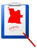 矢量插画的剪贴板中的安哥拉地图 — 图库矢量图片
