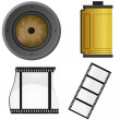 Set of objects for a photo — Stock Vector