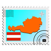 Vector stamp with the image maps of Austria — Stock Vector