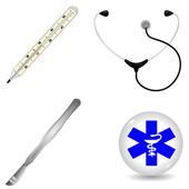 Set of medical accessories — Stock Vector