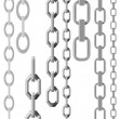 Vector  illustration set of chains - Stock Vector