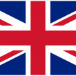 Vector illustration of the flag of United Kingdom — Stock Vector