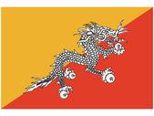 Vektor illustration av sjunka av bhutane — Stockvektor