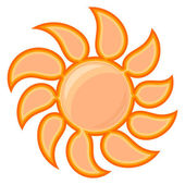 Vector sun sign — Stock Vector