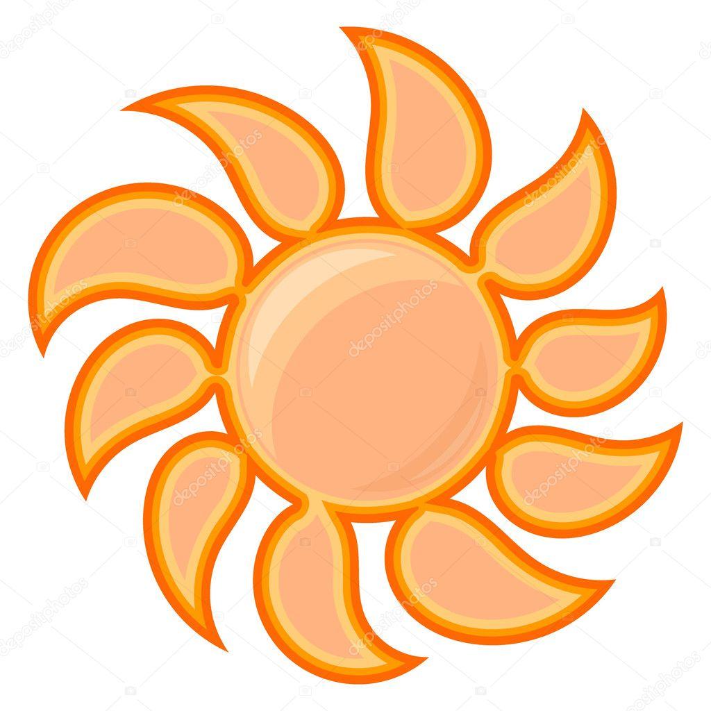 矢量太阳标志 — 图库矢量图像08