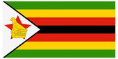 Vector illustration of the flag of Zimbabwe — Stock Vector