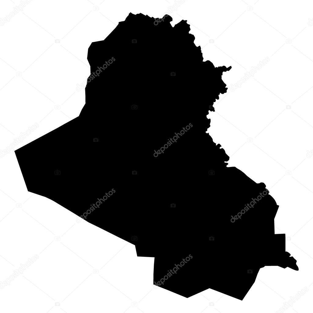 矢量插画的伊拉克地图 — 图库矢量图像08 lapotnik