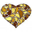Vettoriale Stock : Vector illustration of heart