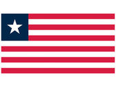 Vector illustration of the flag of Liberia — Stock Vector