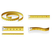 Set of measuring tapes — Stock Vector