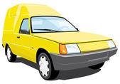 Yellow pickup — Vettoriale Stock