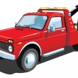 Red tow truck - Stock Vector
