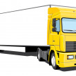 Stock Vector: Semi truck