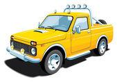 Gul terränggående fordon — Stockvektor