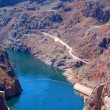 Stock Photo: Hoover Dam on Lake Mead Las Vegas
