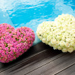 Stock Photo: Flower hearts