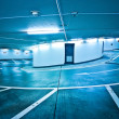 Empty underground parking lot area — Stock Photo