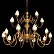 Vintage chandelier isolated on black - Stock Photo