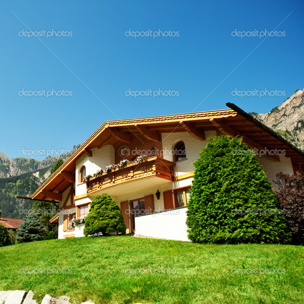 New family home in the mountains  Stock Photo #9084703