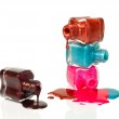 Bottles with spilled nail polish — Stock Photo #10060963