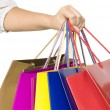 Girl keep shopping bags in hand — Stock Photo #10062665