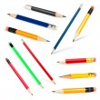Long and short Pencils collection — Stock Photo #10065068