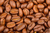 Roasted coffee beans extreme closeup — Stock Photo