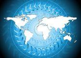 Bright blue hi-tech background — Stock Vector