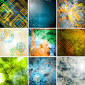 Collection of tech grunge backdrops — Stock Photo