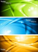 Abstract glowing banners collection — Stock Vector