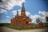 Sacred Ekaterina's very beautiful orthodox temple in Russia — Stock Photo