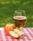 Apple cider and apples — Stock Photo