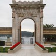 Gate of Ciragan palace hotel Bosphorus Istanbul Turkey — Stock Photo