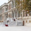 Part of exterior of Ciragan palace hotel Bosphorus Istanbul — Stock Photo