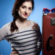 Stock Photo: Portrait of the lovely woman in retro style