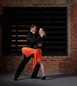Tango dancers in action — Stock Photo